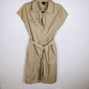 Talbots trench style dress